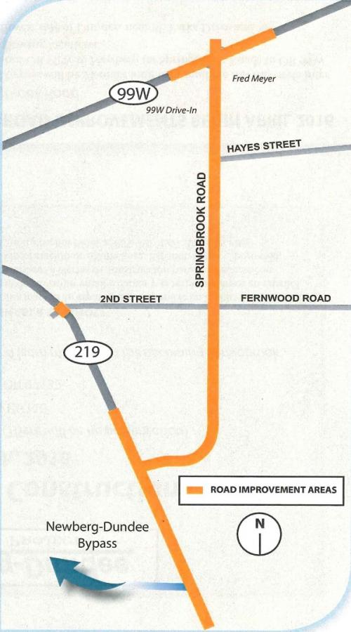 Springbrook Road To Open To All Traffic On Friday Newberg Oregon