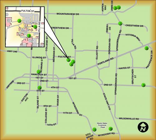 Map Of Newberg Oregon City of Newberg Sustainability Trail Map | Newberg Oregon