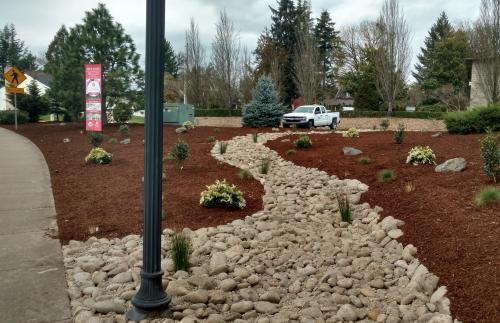 New Waterwise Landscape At The Girl Scout Garden Frontage 2018